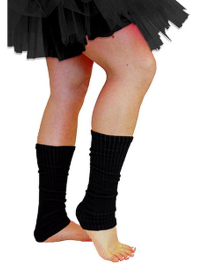 80s Leg Warmers - Black-Leg Wear-Jokers Costume Hire and Sales Mega Store