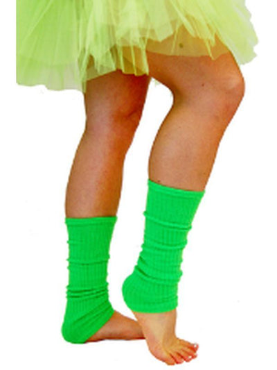 80s Leg Warmers - Fluoro Green-Leg Wear-Jokers Costume Hire and Sales Mega Store