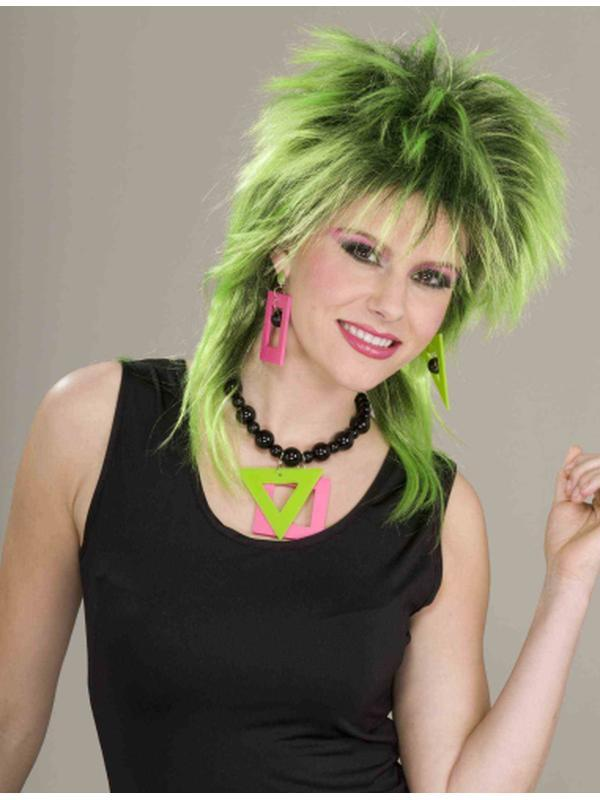 80S Neon Necklace/Earrings Set-Costume Accessories-Jokers Costume Hire and Sales Mega Store