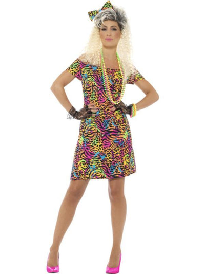 80s Party Animal Costume-Costumes - Women-Jokers Costume Hire and Sales Mega Store