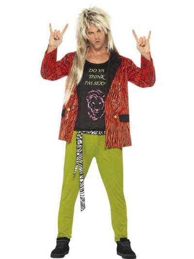 80s Rock Star Costume-Costumes - Mens-Jokers Costume Hire and Sales Mega Store