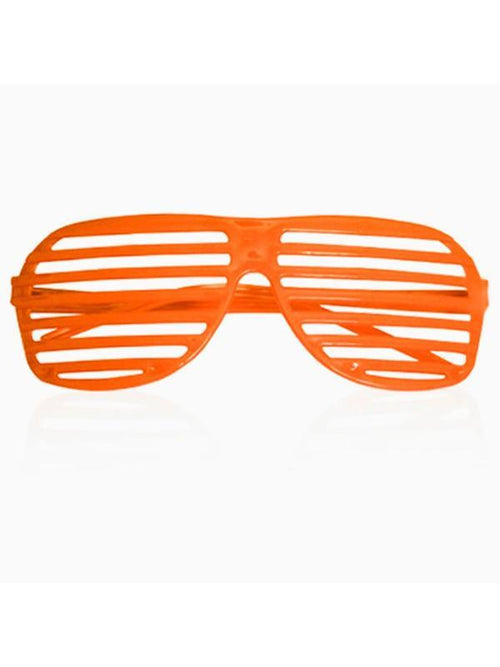80s Slot Glasses - Fluoro Orange-Eyewear-Jokers Costume Hire and Sales Mega Store