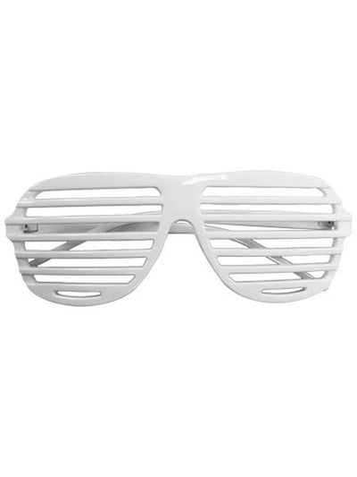 80s Slot Glasses - White-Eyewear-Jokers Costume Hire and Sales Mega Store