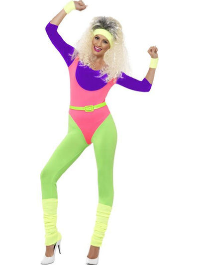 80s Work Out Costume, with Jumpsuit-Costumes - Women-Jokers Costume Hire and Sales Mega Store