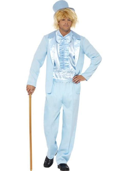 90s Stupid Tuxedo Costume - Blue-Costumes - Mens-Jokers Costume Hire and Sales Mega Store
