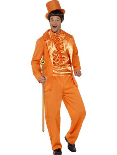90s Stupid Tuxedo Costume - Orange-Costumes - Mens-Jokers Costume Hire and Sales Mega Store