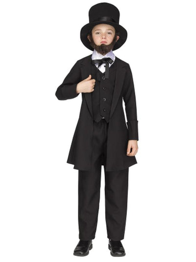 Abe Lincoln Child Costume-Costumes - Boys-Jokers Costume Hire and Sales Mega Store