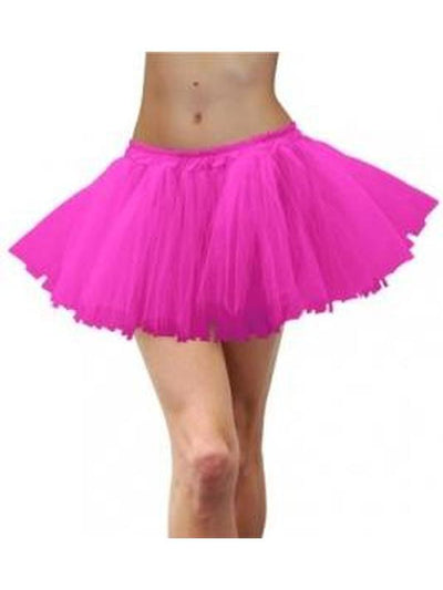 Adult 80s Tulle Tutu - Fluoro Pink-Costume Accessories-Jokers Costume Hire and Sales Mega Store