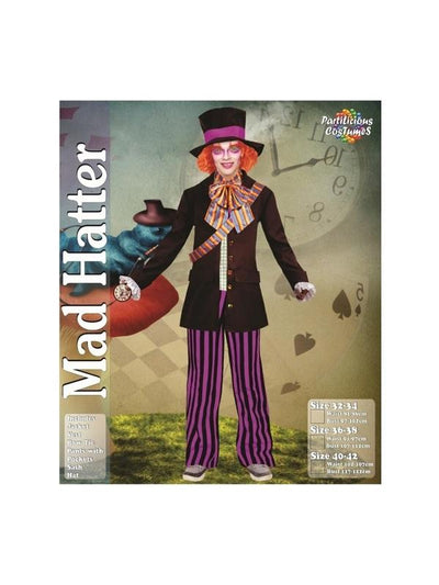 Adult Male Mad Hatter costume-Costumes - Mens-Jokers Costume Hire and Sales Mega Store