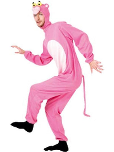 Adult Onesie - Pink Cat-Costumes - Mens-Jokers Costume Hire and Sales Mega Store