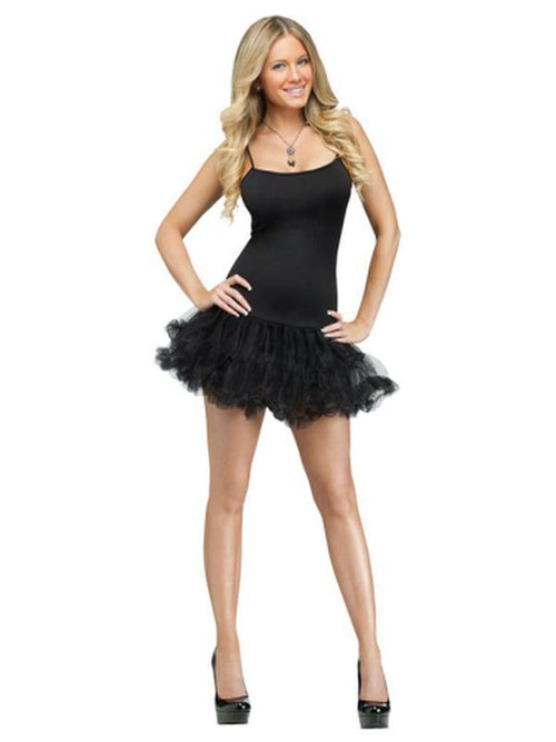 Adult Pettidress - Black-Costumes - Women-Jokers Costume Hire and Sales Mega Store
