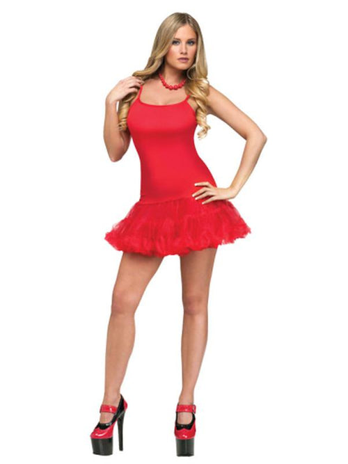 Adult Pettidress - Red-Costumes - Women-Jokers Costume Hire and Sales Mega Store