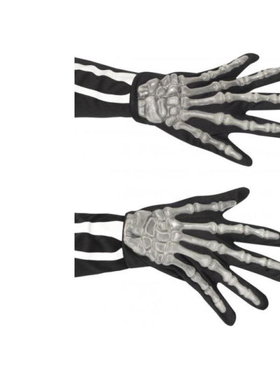 Adult Skeleton Gloves-Armwear-Jokers Costume Hire and Sales Mega Store