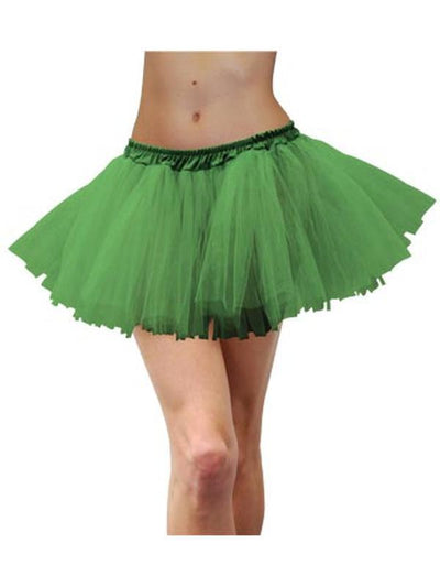 Adult Tulle Tutu - Green-Costume Accessories-Jokers Costume Hire and Sales Mega Store