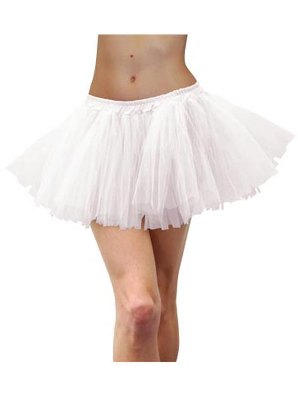 Adult Tulle Tutu - White-Costume Accessories-Jokers Costume Hire and Sales Mega Store
