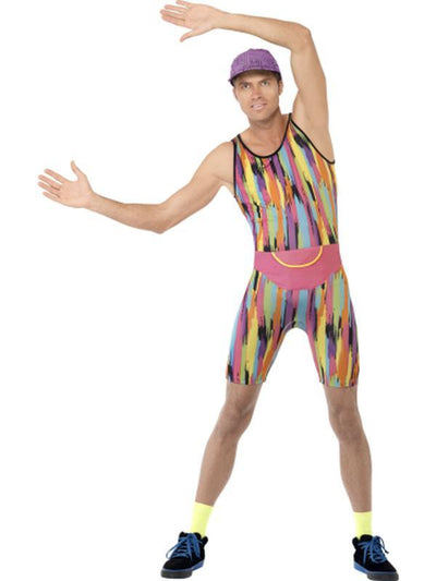 Aerobics Instructor Costume-Costumes - Mens-Jokers Costume Hire and Sales Mega Store