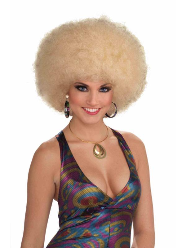 Afro Mixed Blonde Wig Adult-Wigs-Jokers Costume Hire and Sales Mega Store