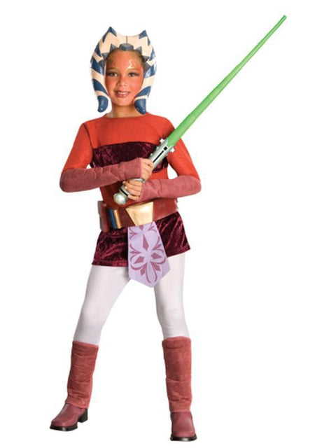 Ahsoka Deluxe Child - Size S-Costumes - Girls-Jokers Costume Hire and Sales Mega Store