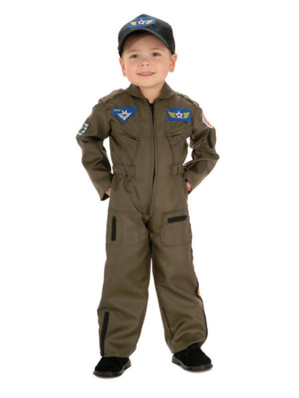 Air Force Pilot - Size M 6-8-Costumes - Boys-Jokers Costume Hire and Sales Mega Store