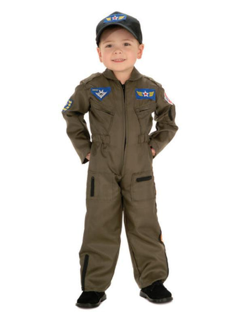 Air Force Pilot - Size S 3-5-Costumes - Boys-Jokers Costume Hire and Sales Mega Store