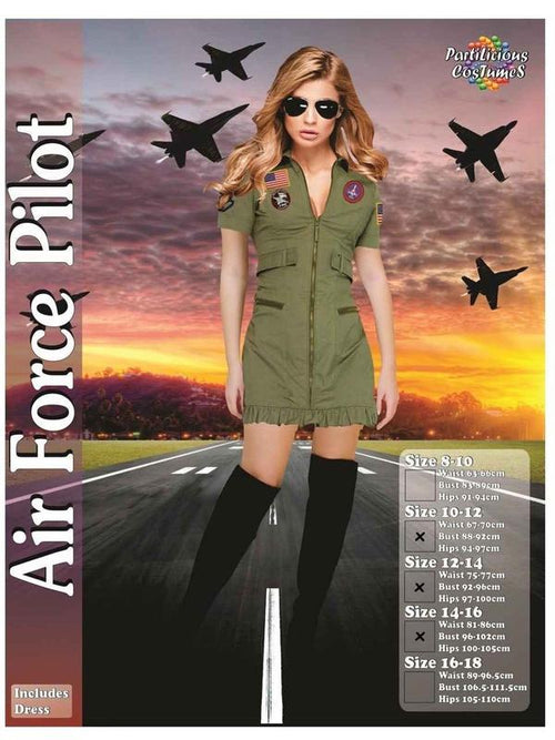 Air Force Pilot-Costumes - Women-Jokers Costume Hire and Sales Mega Store