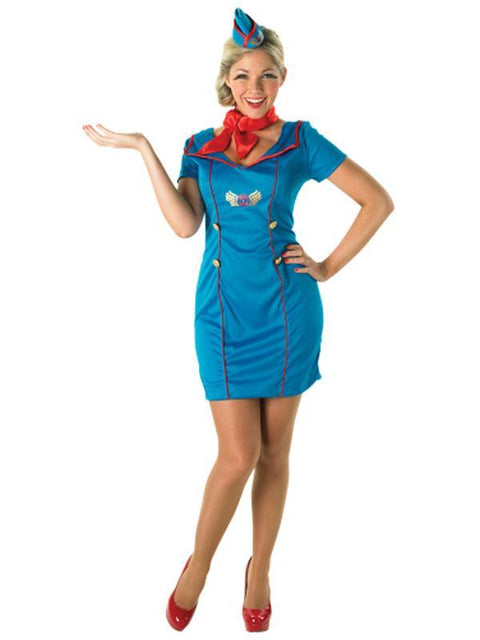 Air Hostess Costume - Size L-Costumes - Women-Jokers Costume Hire and Sales Mega Store
