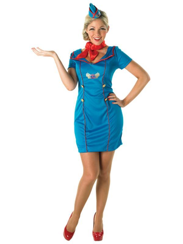 Air Hostess Costume - Size M-Costumes - Women-Jokers Costume Hire and Sales Mega Store