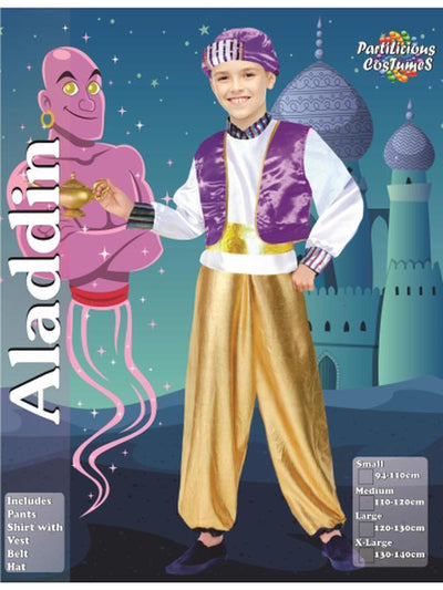 Aladdin Costume-Costumes - Boys-Jokers Costume Hire and Sales Mega Store