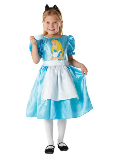 ALICE IN WONDERLAND CLASSIC COSTUME - SIZE S-Costumes - Girls-Jokers Costume Hire and Sales Mega Store