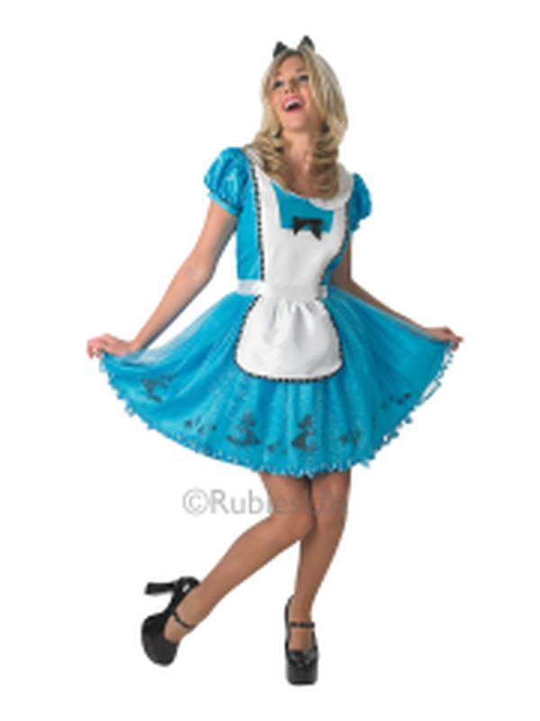 Alice In Wonderland Sassy Costume - Size L-Costumes - Women-Jokers Costume Hire and Sales Mega Store