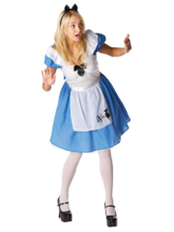 Alice In Wonderland - Size L-Costumes - Women-Jokers Costume Hire and Sales Mega Store