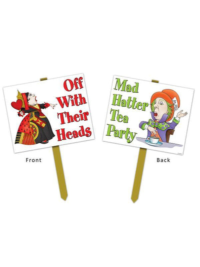 Alice In Wonderland Yard Sign-Decorations - Themes-Jokers Costume Hire and Sales Mega Store