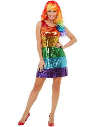 All That Glitters Rainbow Costume-Costumes - Women-Jokers Costume Hire and Sales Mega Store
