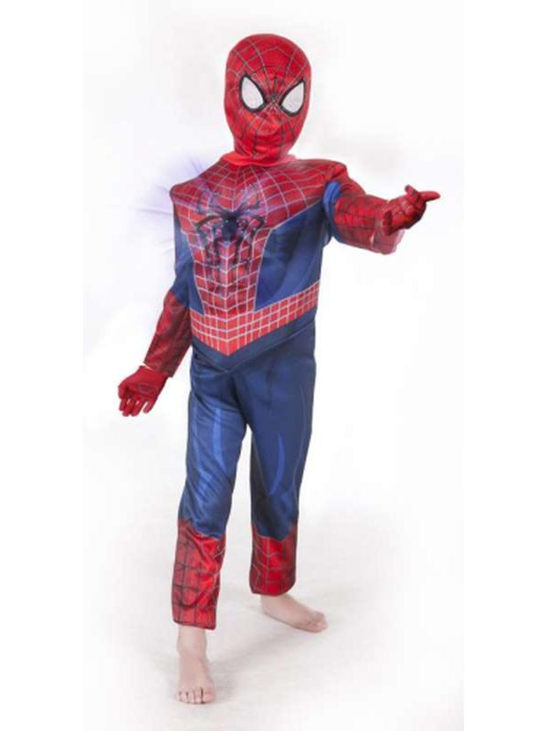 Amazing Spider-Man 2 Deluxe Light Up - Size 6-8-Costumes - Boys-Jokers Costume Hire and Sales Mega Store