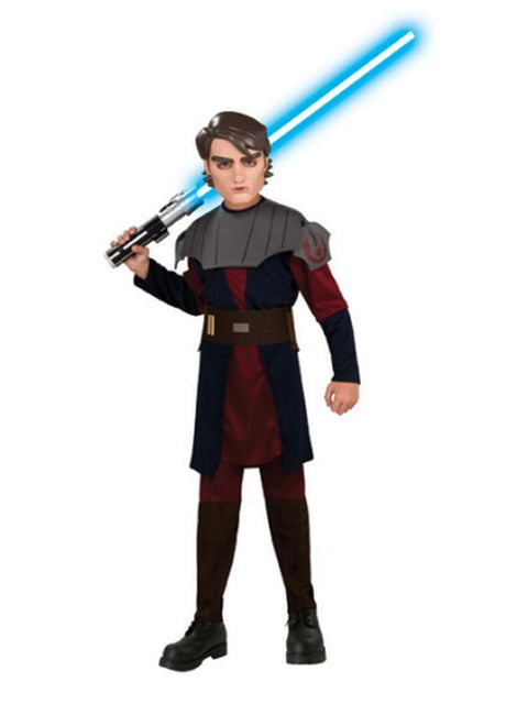 Anakin Skywalker Clone Wars Child - Size S-Costumes - Boys-Jokers Costume Hire and Sales Mega Store
