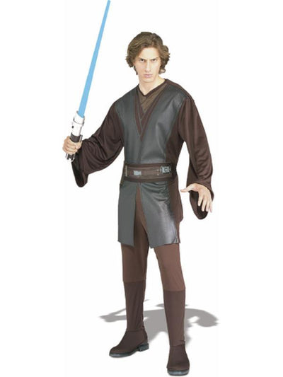 Anakin Skywalker Suit Adult - Size Std-Costumes - Mens-Jokers Costume Hire and Sales Mega Store