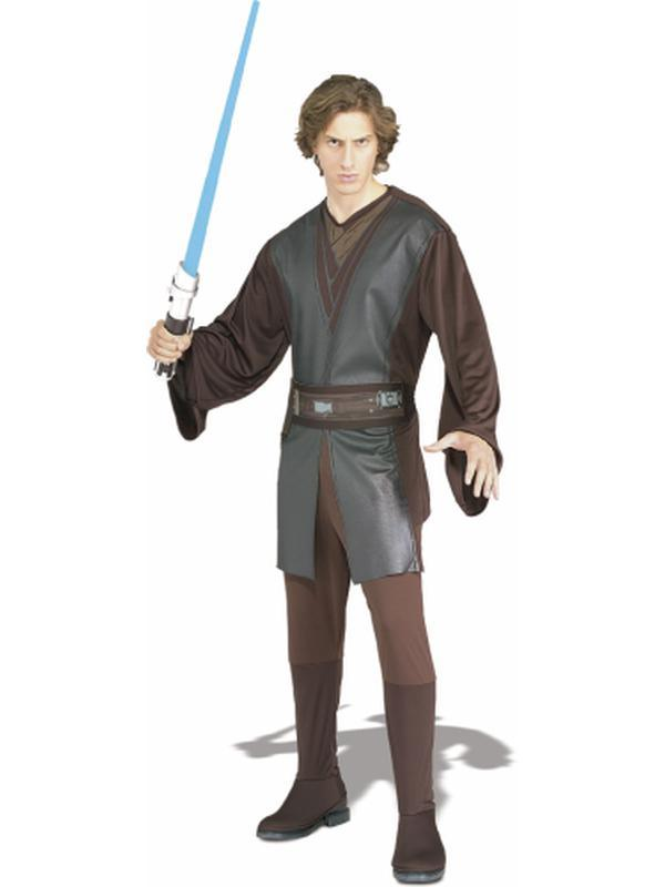 Anakin Skywalker Suit Adult - Size Xl-Costumes - Mens-Jokers Costume Hire and Sales Mega Store