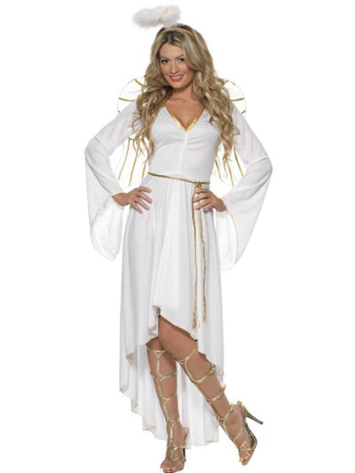 Angel Costume with Dress, Belt, Halo and Wings-Costumes - Women-Jokers Costume Hire and Sales Mega Store
