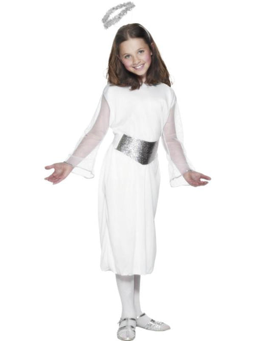 Angel Costume with Dress, Belt & Halo-Costumes - Girls-Jokers Costume Hire and Sales Mega Store