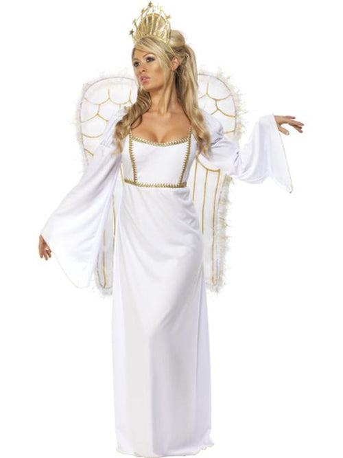 Angel Costume with Dress, Crown & Wings-Costumes - Women-Jokers Costume Hire and Sales Mega Store