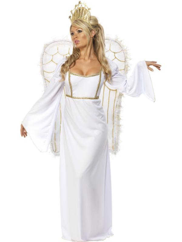 Angel Costume with Dress, Crown & Wings-Jokers Costume Mega Store