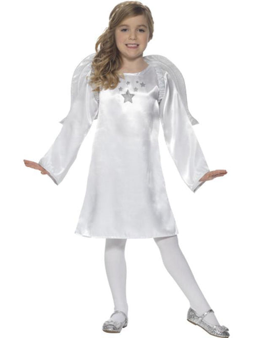 Angel Costume with Tunic & Wings-Costumes - Girls-Jokers Costume Hire and Sales Mega Store