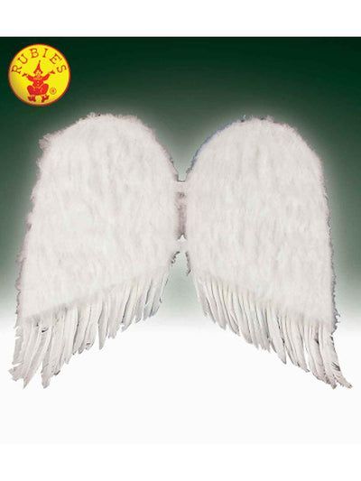 ANGEL WINGS, WHITE FEATHER-Costume Accessories-Jokers Costume Hire and Sales Mega Store