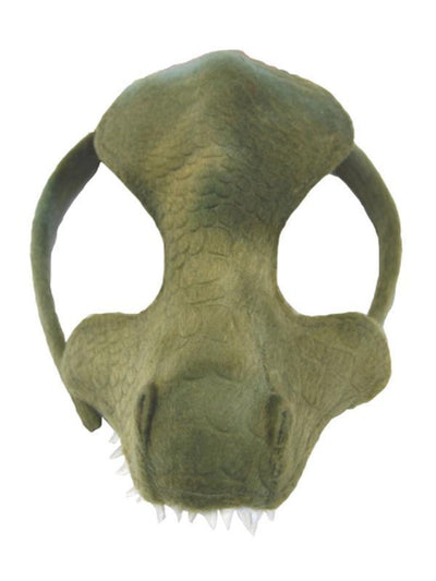 Animal Half Mask - Good Green Dinosaur-Masks - Animal-Jokers Costume Hire and Sales Mega Store