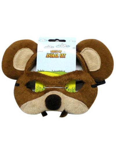 Animal Headband & Mask Set - Bear-Masks - Animal-Jokers Costume Hire and Sales Mega Store