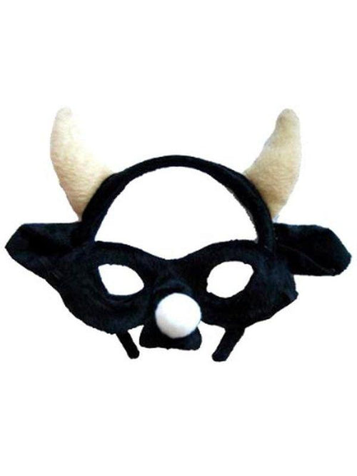 **Animal Headband & Mask Set - Bull/Blk-Masks - Animal-Jokers Costume Hire and Sales Mega Store