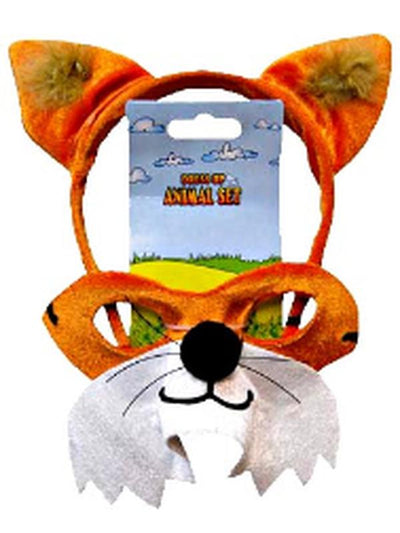 Animal Headband & Mask Set - Fox-Masks - Animal-Jokers Costume Hire and Sales Mega Store