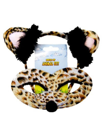 Animal Headband & Mask Set - Leopard-Masks - Animal-Jokers Costume Hire and Sales Mega Store