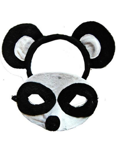 Animal Headband & Mask Set - Panda-Masks - Animal-Jokers Costume Hire and Sales Mega Store