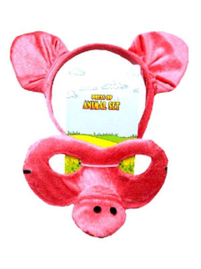 Animal Headband & Mask Set - Pig-Masks - Animal-Jokers Costume Hire and Sales Mega Store